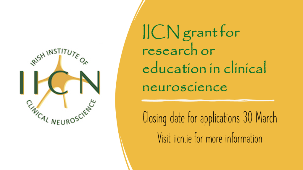 Applications are invited for an IICN grant for research or education in clinical neuroscience
