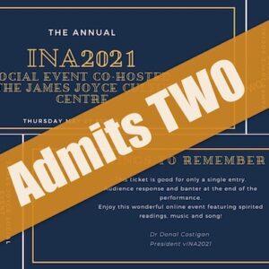 vINA 2021 Joyce / Beckett performances: Double Ticket