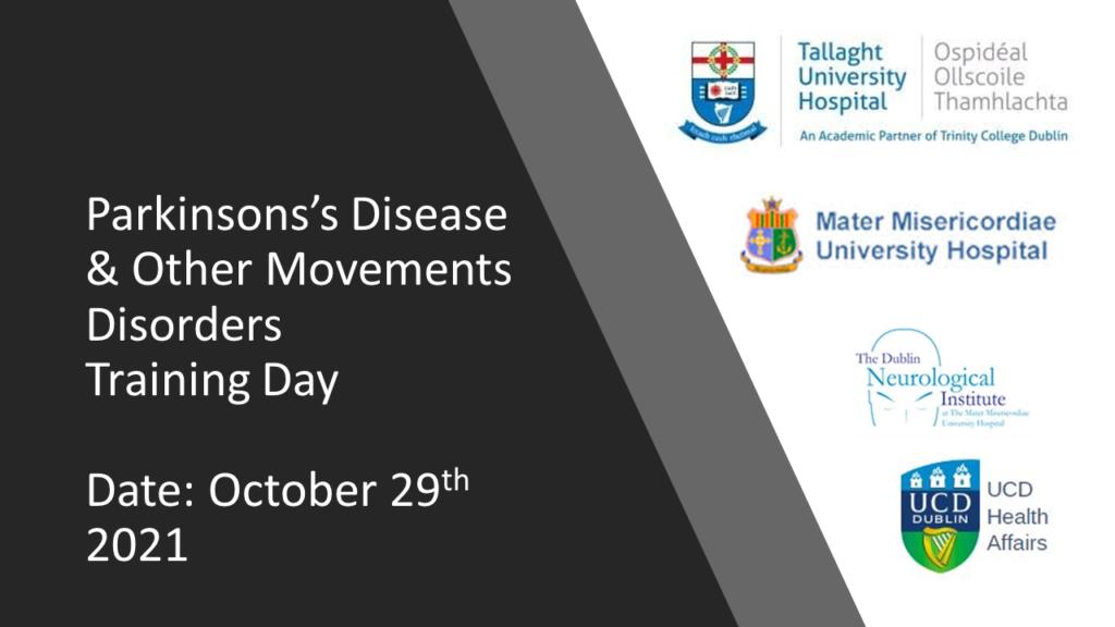 Annual Parkinson's Masterclass Friday, 29th October
