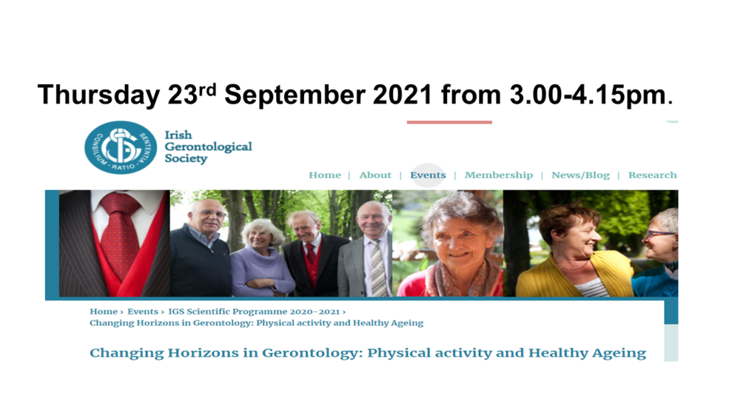 IGS Public Lecture 23rd September 2021