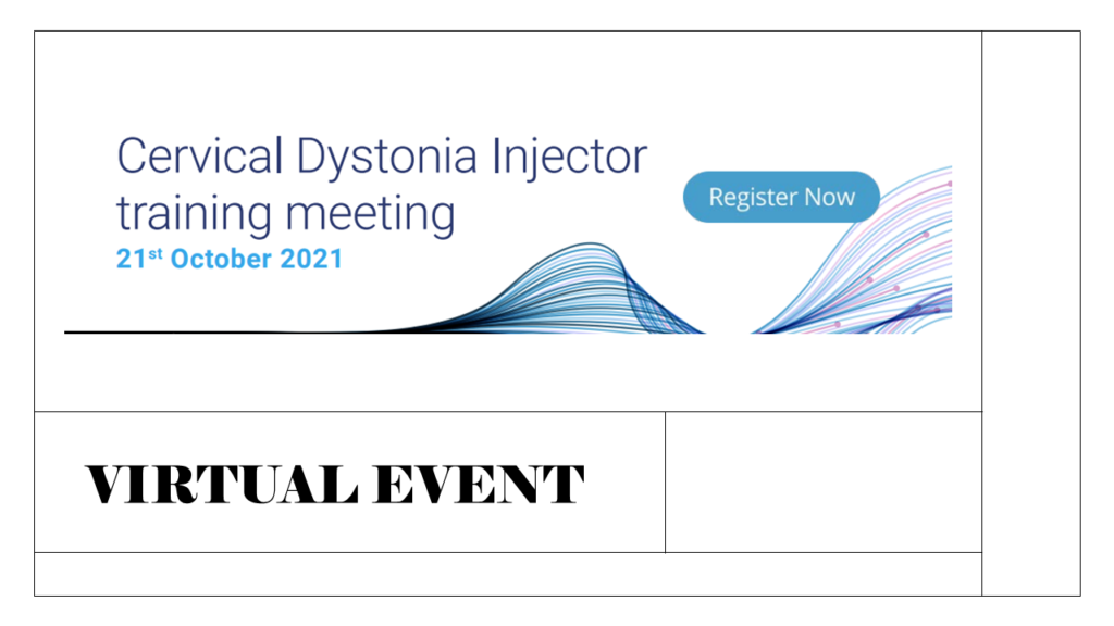 Cervical Dystonia Injector Training Agenda 21st October