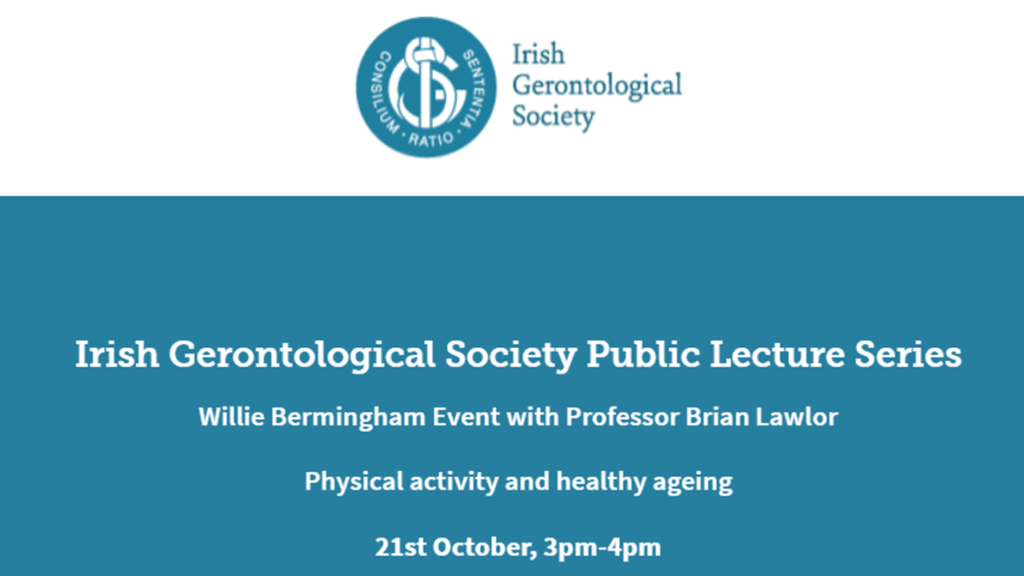 Willie Bermingham lecture, presented by Professor Brian Lawlor October 21st